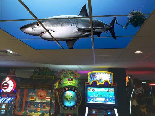 Arcade-Orlando-Sample-LED-Backlit-Ceiling-Shark