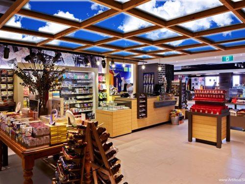 virtual sky ceiling retail design display